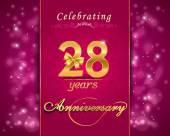 28 éves évforduló ünneplés csillogó kártya
