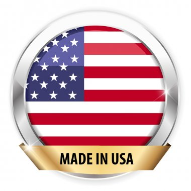 Made in usa silver badge