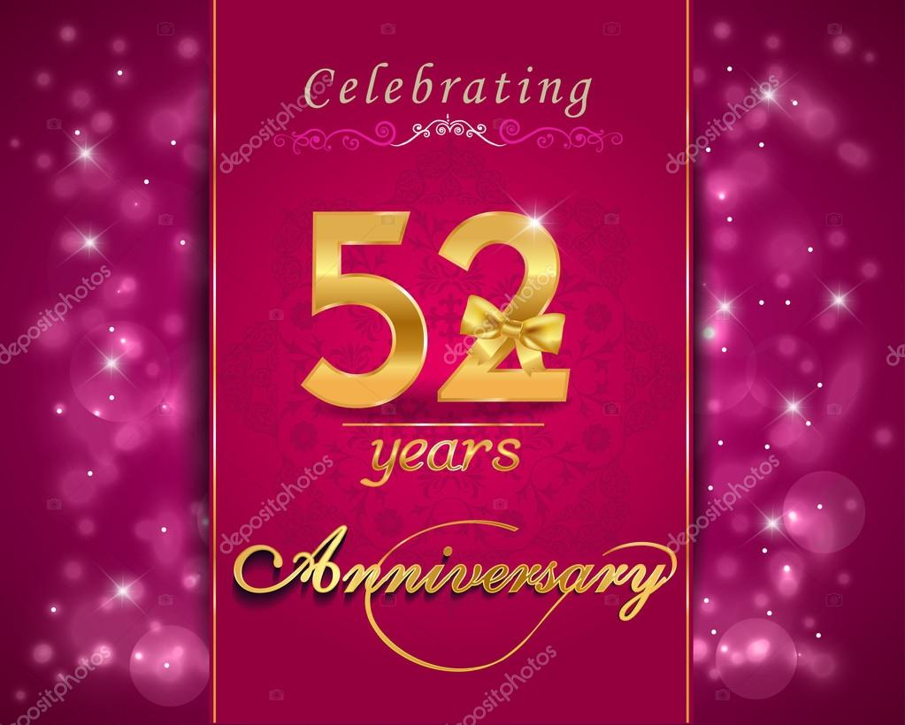 Wedding Anniversary Gift 57 Years : Download - 52 year anniversary celebration sparkling card ? Stock ...