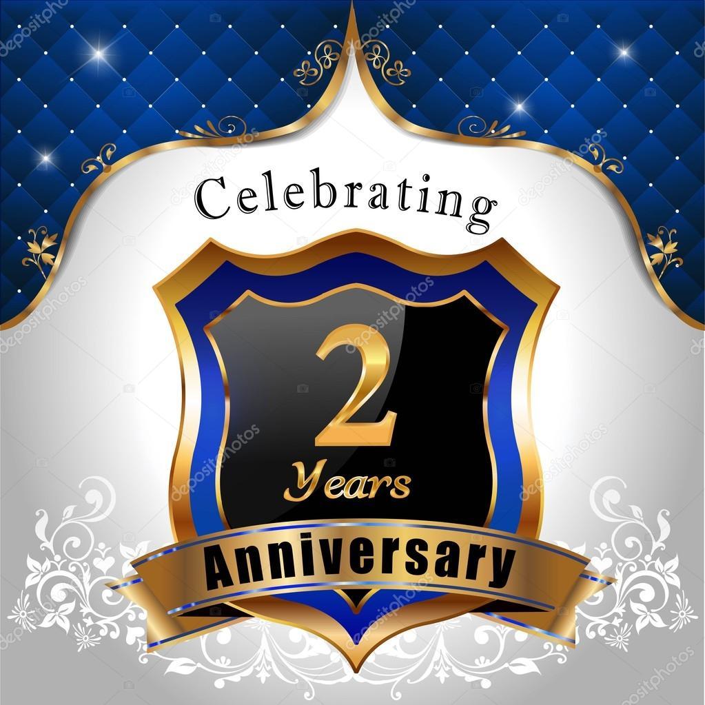 2 Jaar Verjaardag Vieren Stockvector C Atulvermabhai 60835297