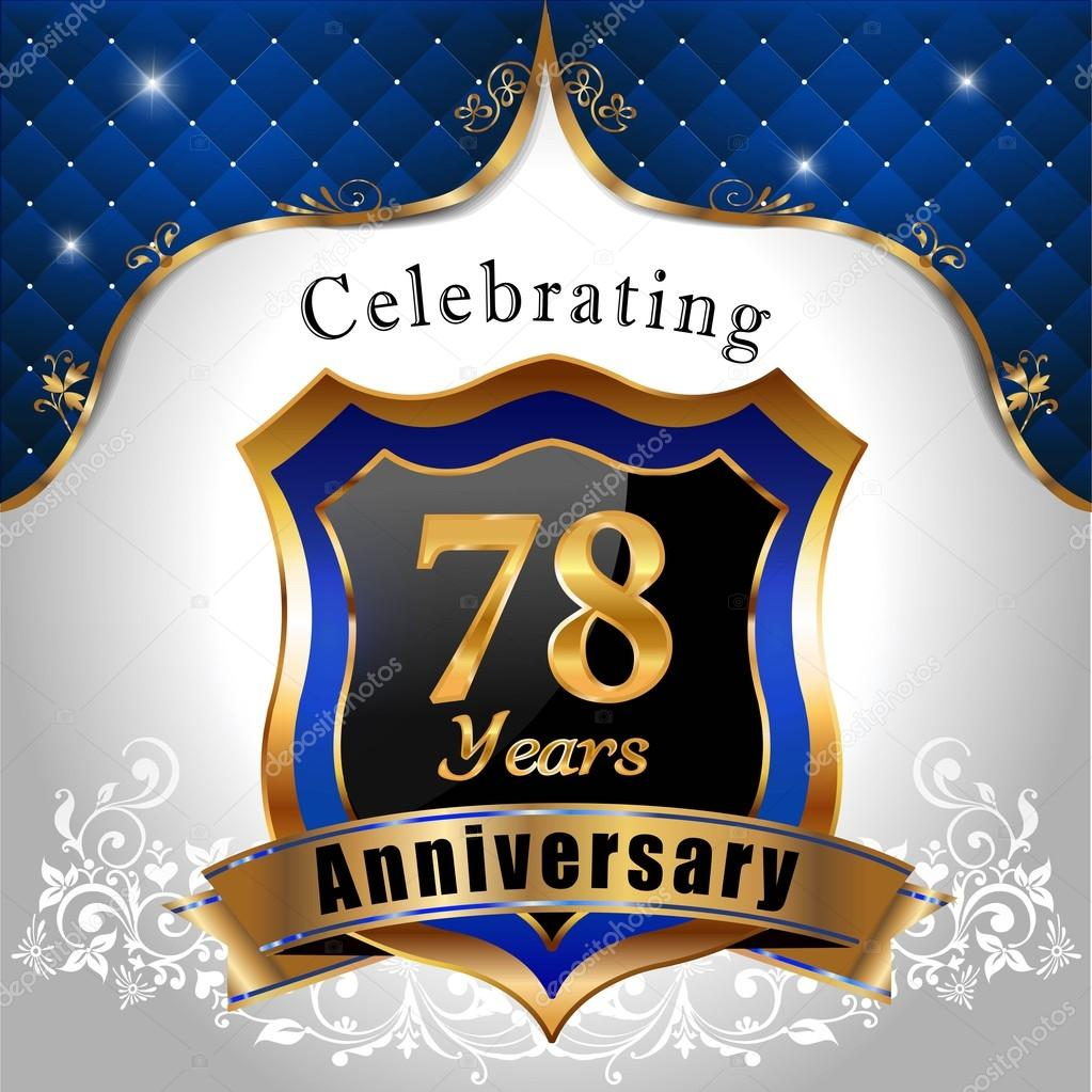 78 Jarige Verjaardag Vieren Stockvector C Atulvermabhai 60835747