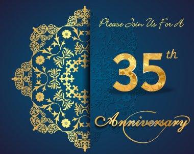 35 year anniversary celebration pattern