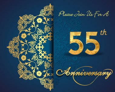 55 year anniversary celebration pattern