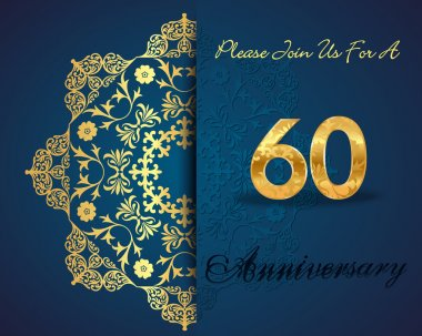 60 year anniversary celebration pattern