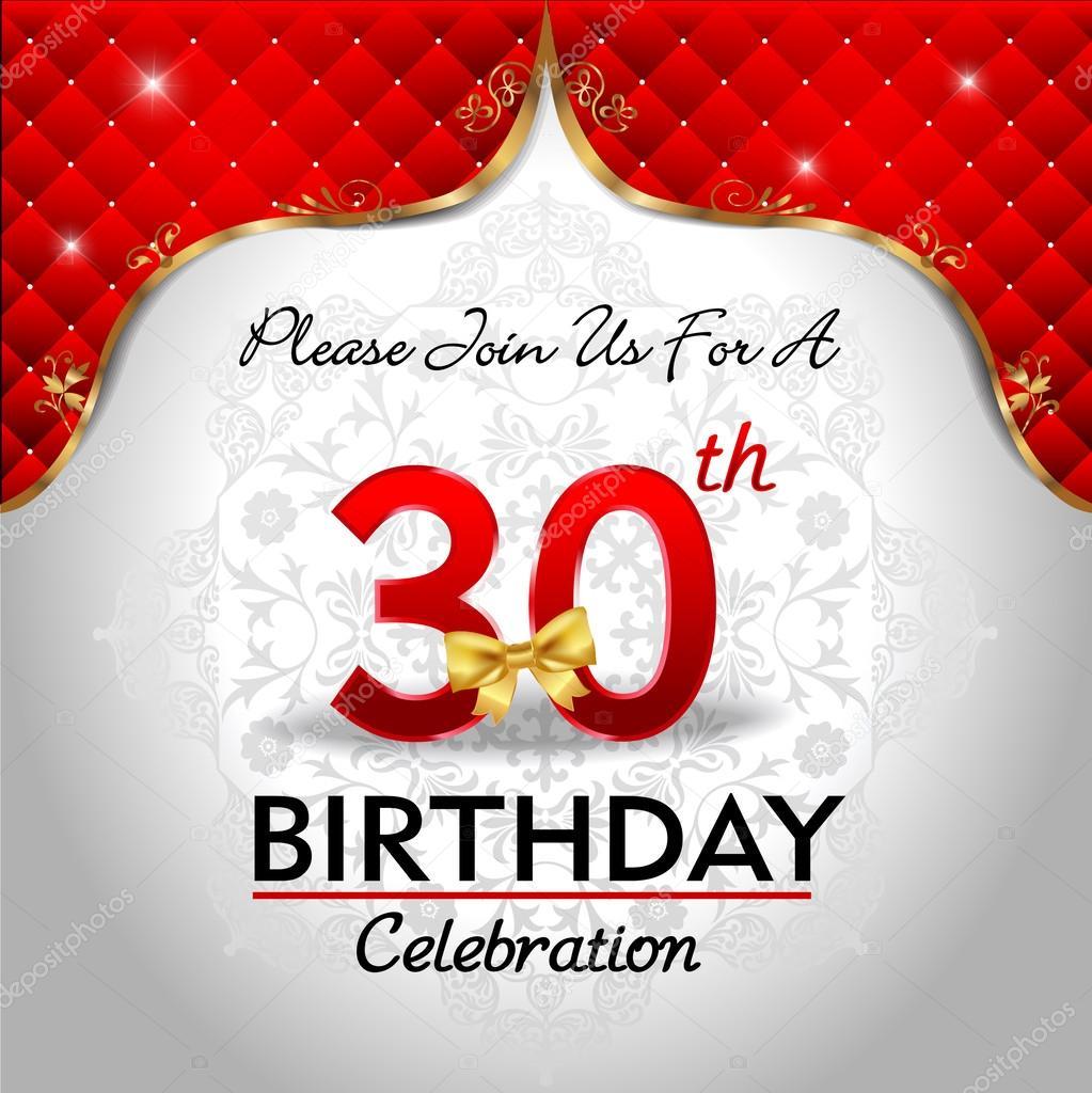 verjaardag 30 jaar vieren