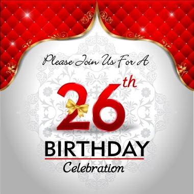 Celebrating 26 years birthday