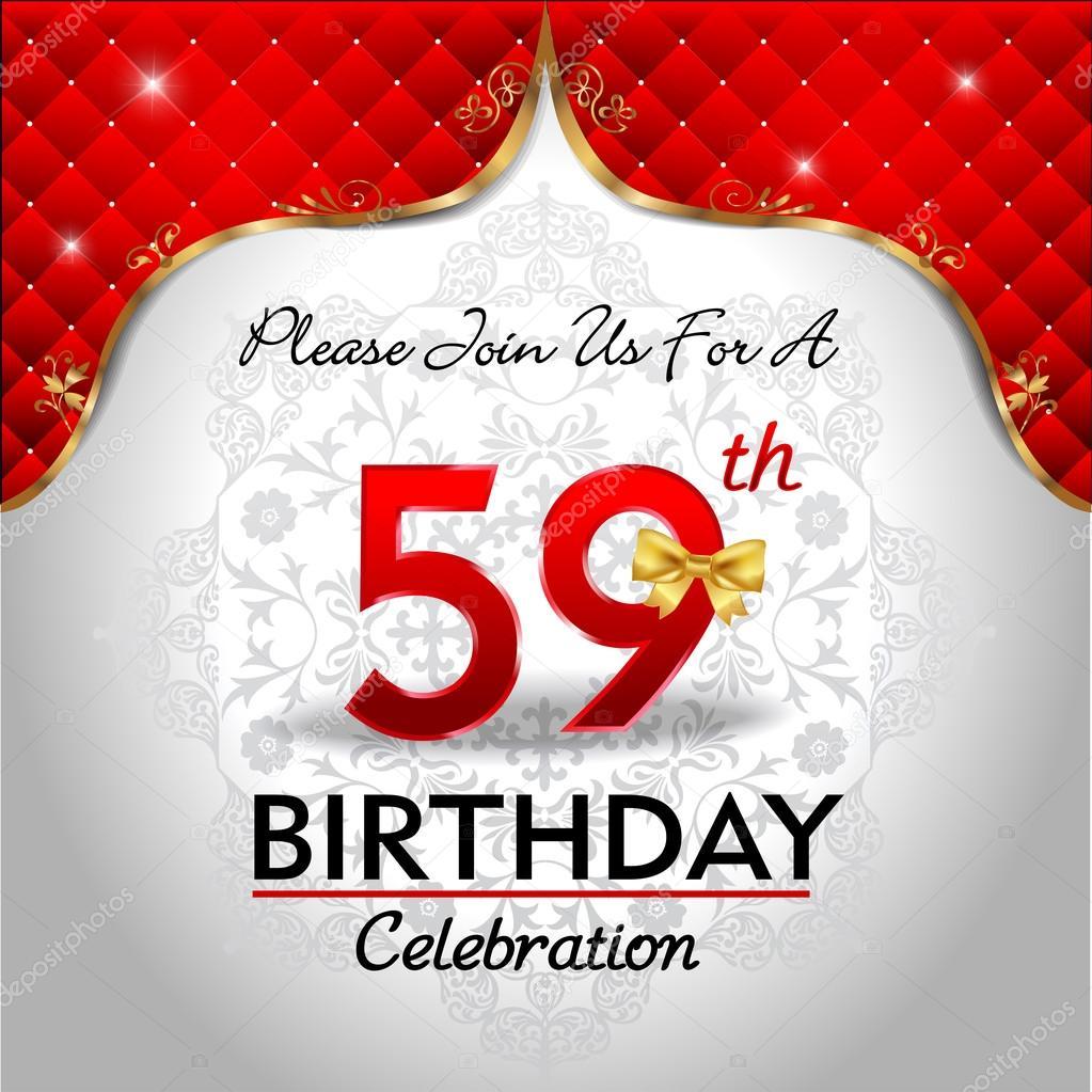 59 Jaar Verjaardag Vieren Stockvector C Atulvermabhai 62970133