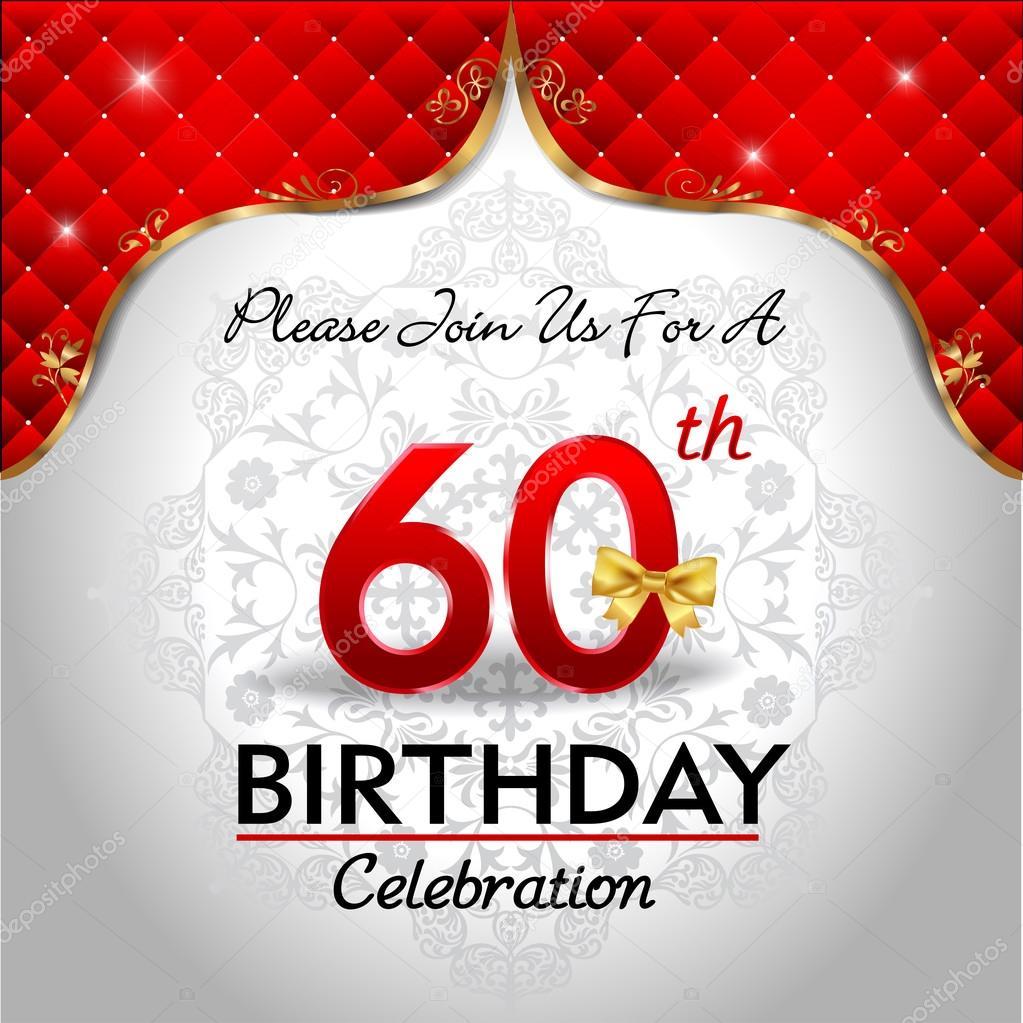 Viert 60 Jaar Verjaardag Stockvector C Atulvermabhai 62970295