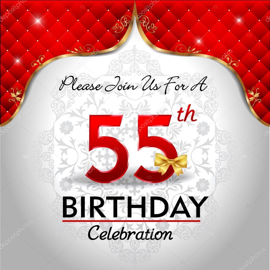 55 Jaar Verjaardag Vieren Stockvector C Atulvermabhai 62970325