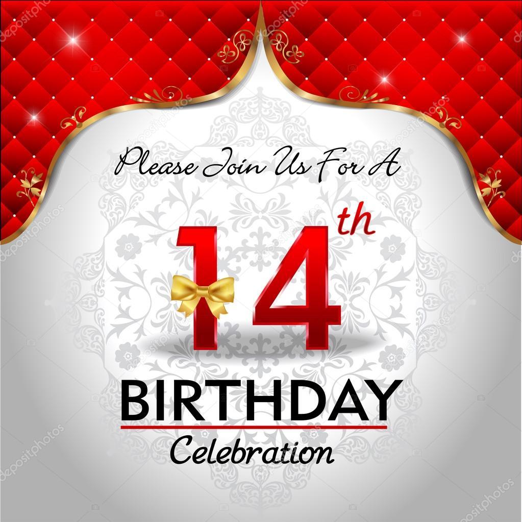 oslava 14 narozenin Oslava narozenin 14 let — Stock Vektor © atulvermabhai #62970389 oslava 14 narozenin