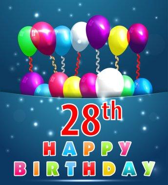28 year Happy Birthday Card