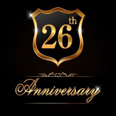26 year anniversary golden label