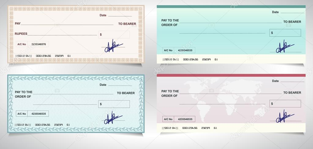 открытка банковский чек