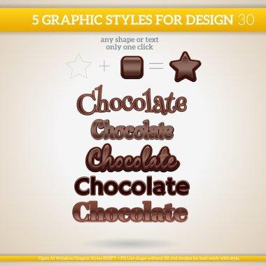 Graphic Styles set