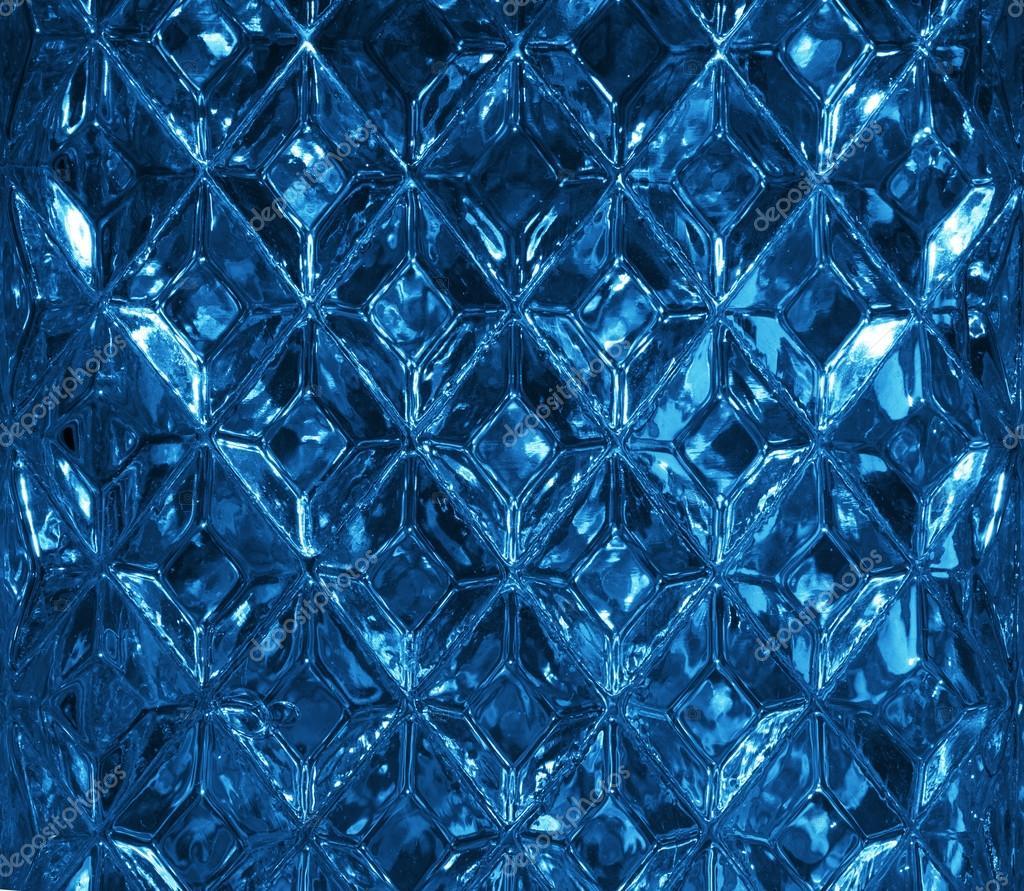 Dark Blue Glass Texture