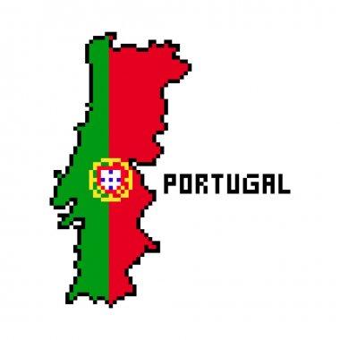 Black White Portugal Outline Map Free Vector Eps Cdr Ai Svg Vector Illustration Graphic Art