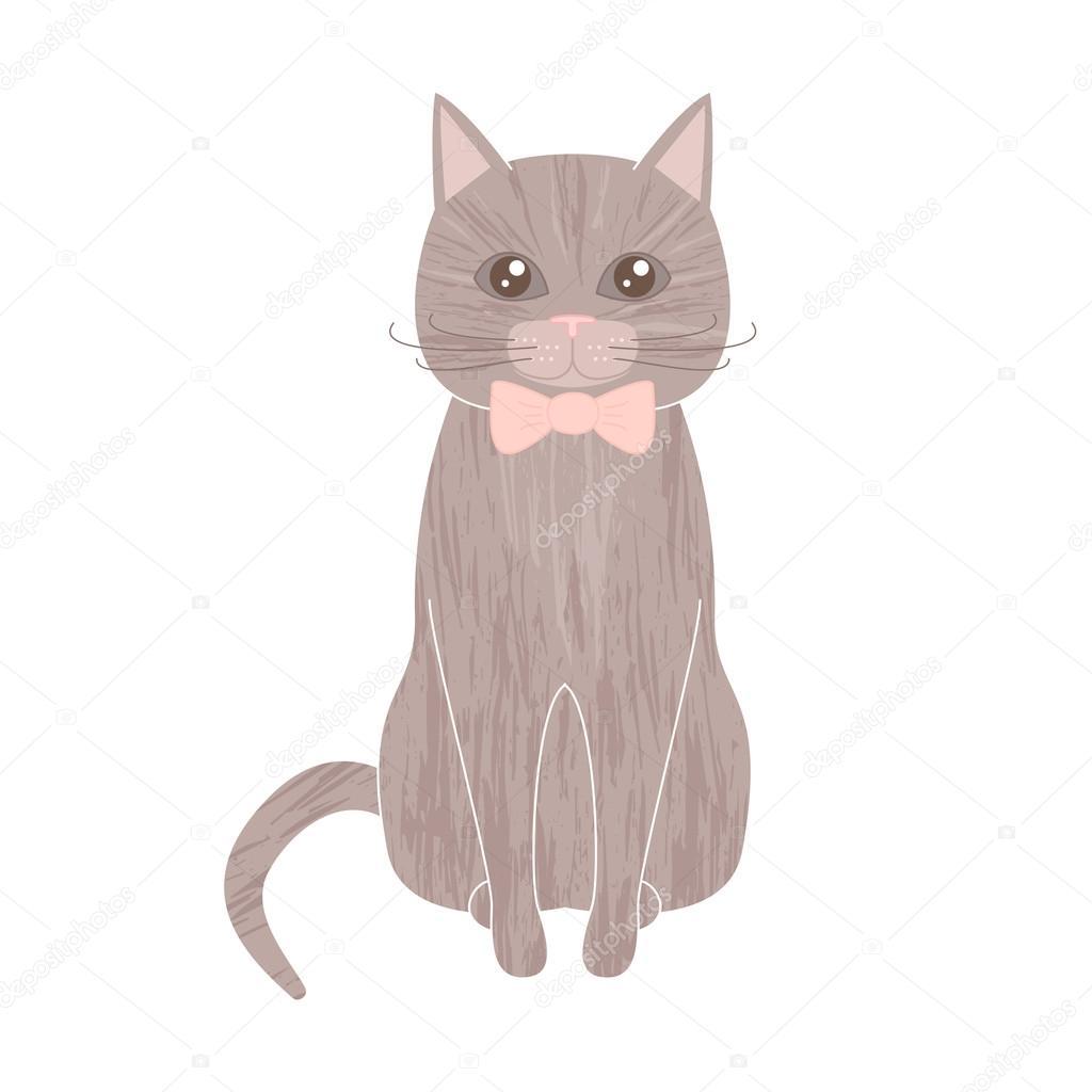 Dibujos Gatos Tiernos Animados Sentarse Gato Del Animal Doméstico