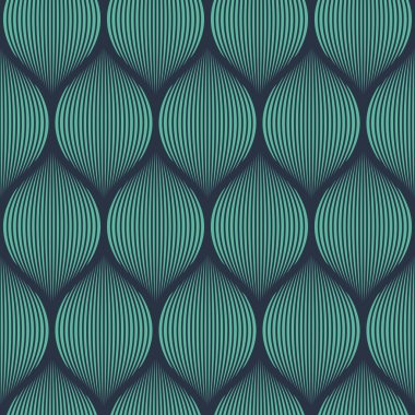 Seamless neon blue optical illusion woven pattern vector