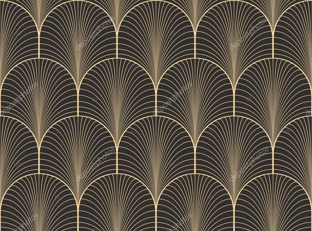 Art deco wallpaper seamless images for Deco maison retro