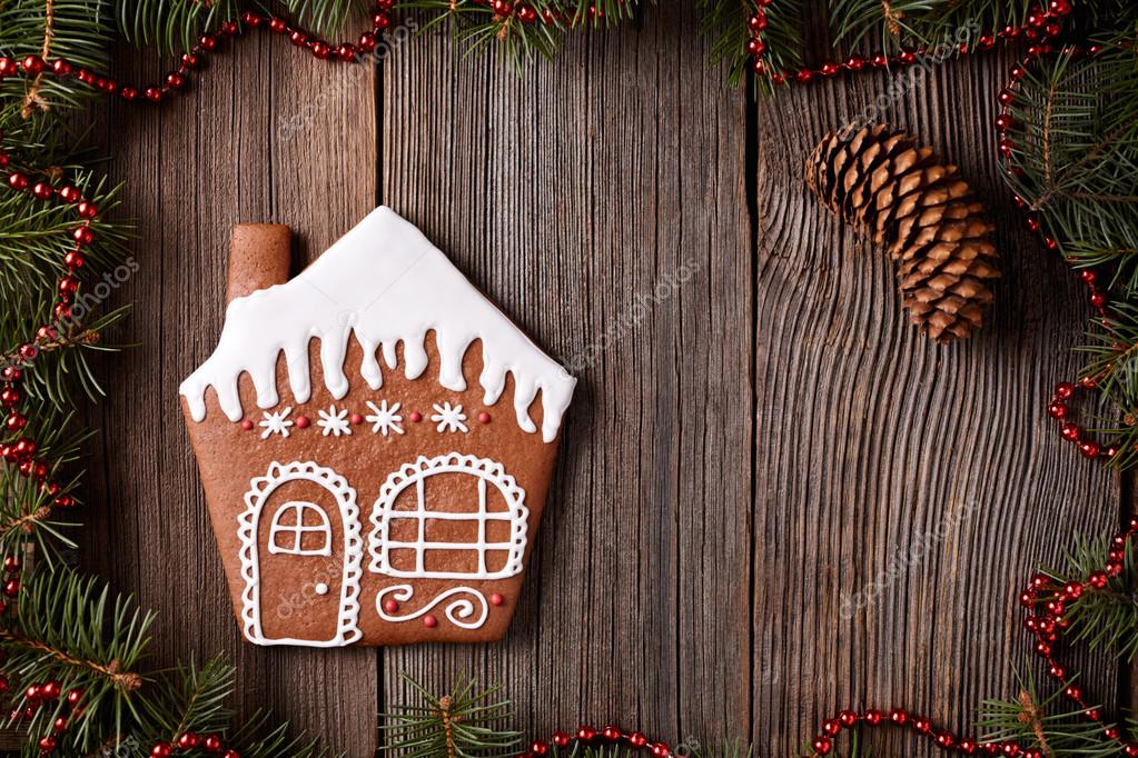 Gingerbread Maison Biscuits Composition De Noel Dans La