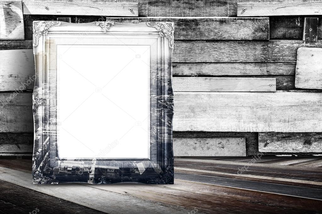 Marco de foto de época recubierto en blanco de la ciudad — Foto de ...