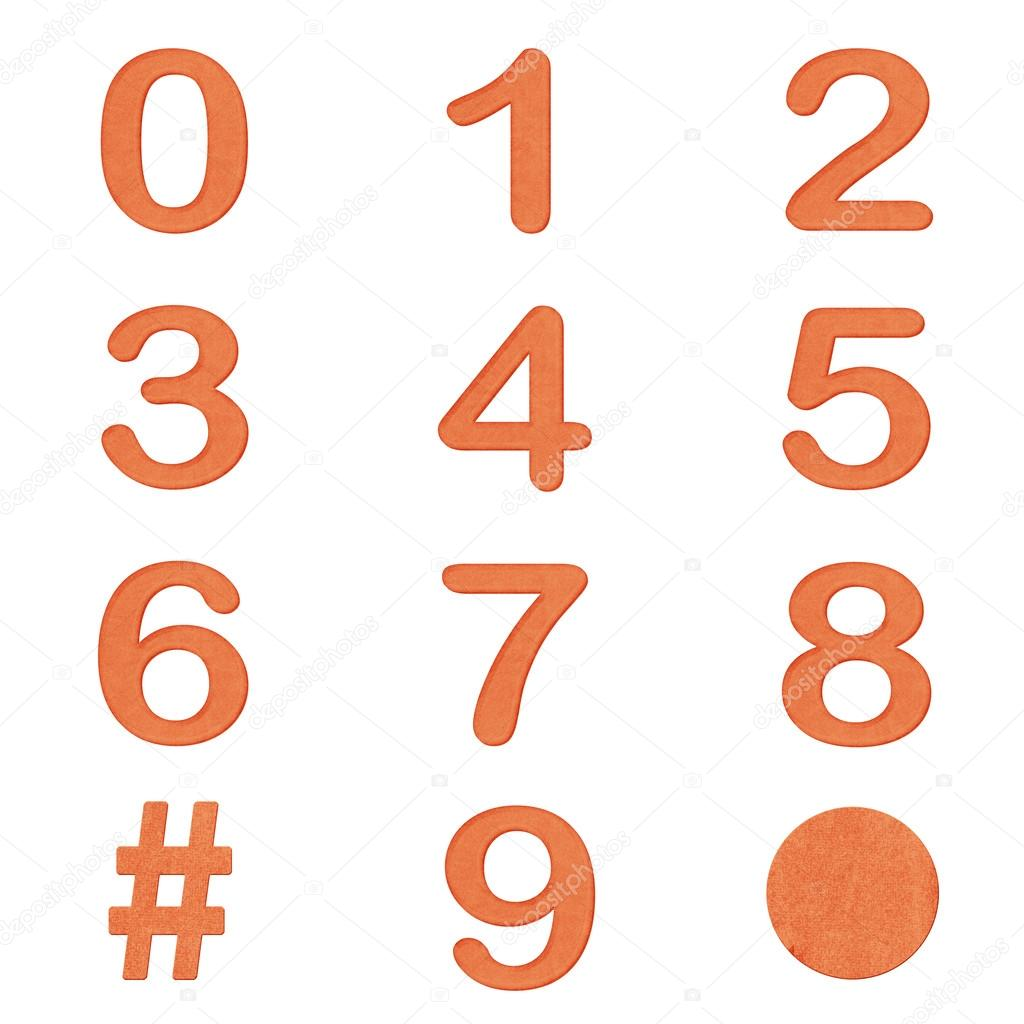 conjunto de n meros de color naranja foto de stock weedezign 101775282. Black Bedroom Furniture Sets. Home Design Ideas