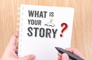 What is your story work on white notebook