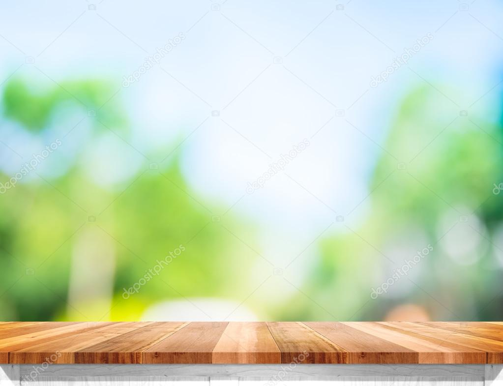Leere braune Holz Tischplatte — Stockfoto © weedezign #110109120