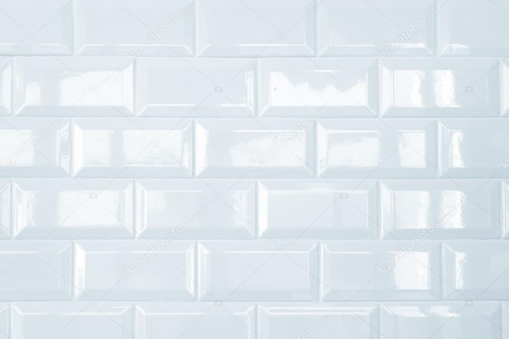 White Ceramic Brick Tile Wall Background Stock Photo