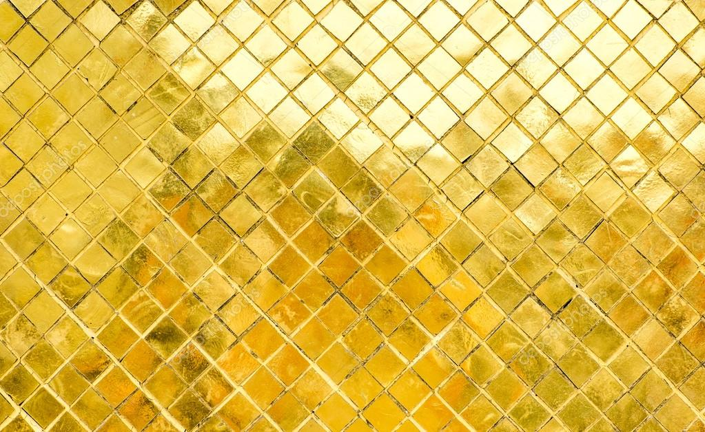 Fotografie Texture Mosaico Oro Parete Di Piastrelle
