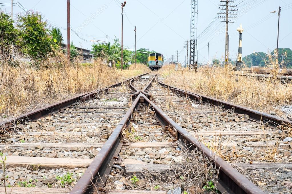 Freie Gleis weg Schalter — Stockfoto © weedezign #84327954