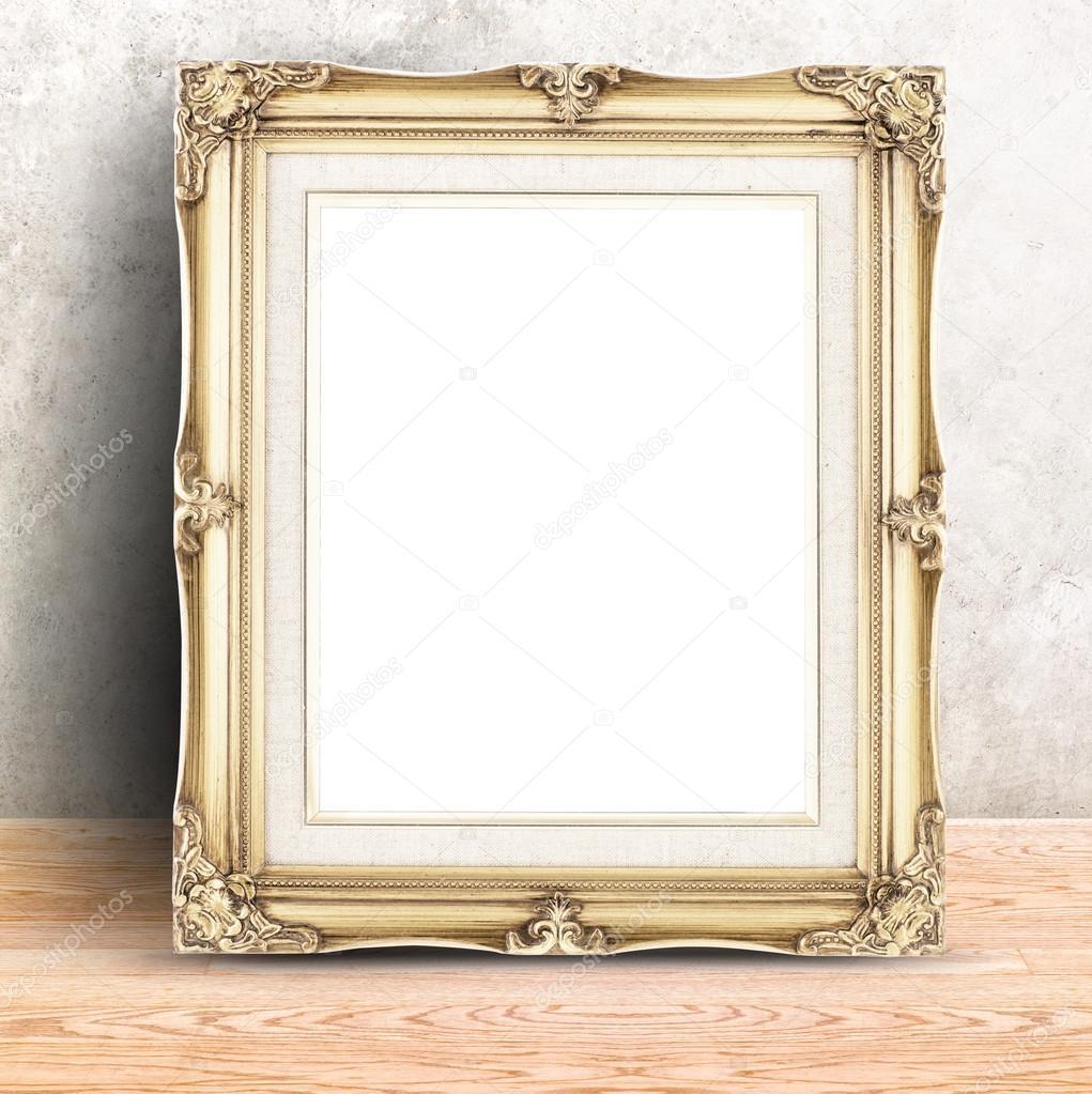 Golden Vintage Fotorahmen — Stockfoto © weedezign #87189220