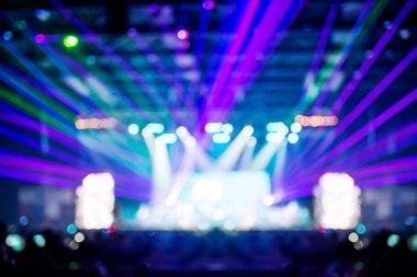 Bokeh lighting in concert