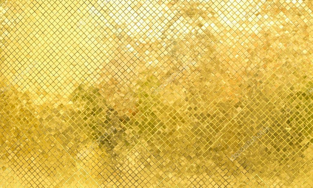Błyszczący Złota Mozaika Płytki ścienne Zdjęcie Stockowe