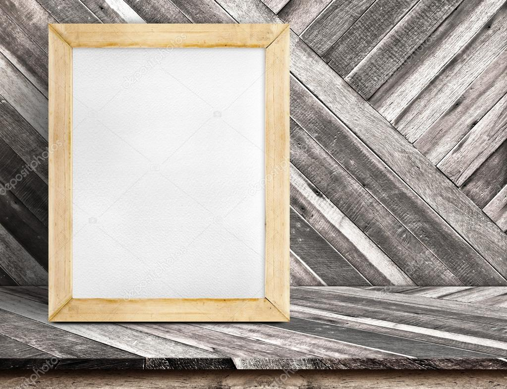 Blank whiteboard wood frame — Stock Photo © weedezign #94756540