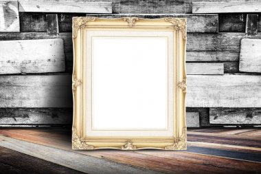 Blank white vintage photo frame