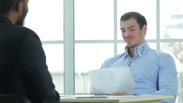 Businessmen in the negotiations