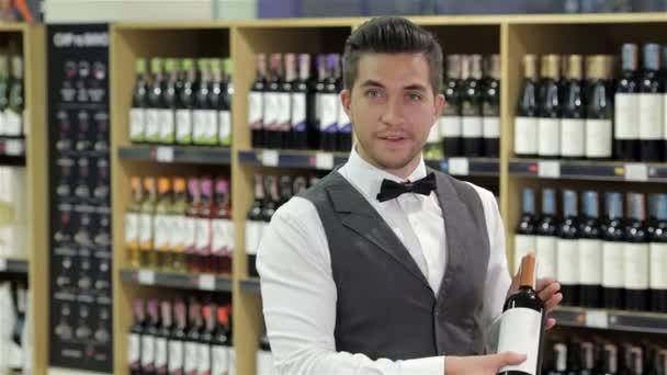prezentace láhev vína