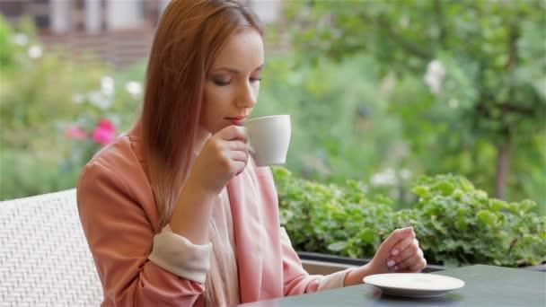 Woman coffee break