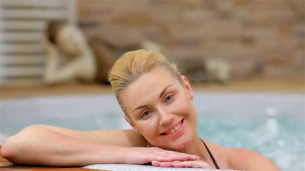 Girl smiling happy at camera during relaxing