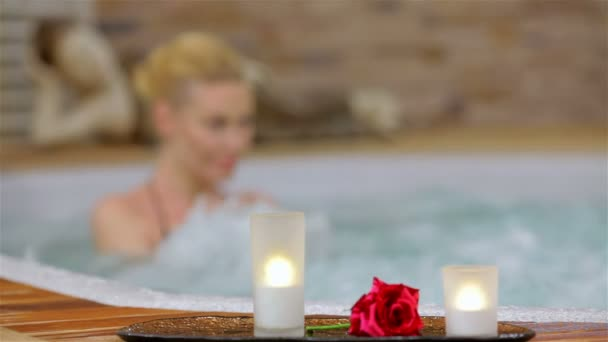 Spa resort jacuzzi hot tub woman