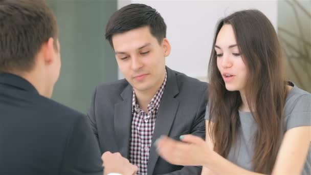 Couple consults about their business