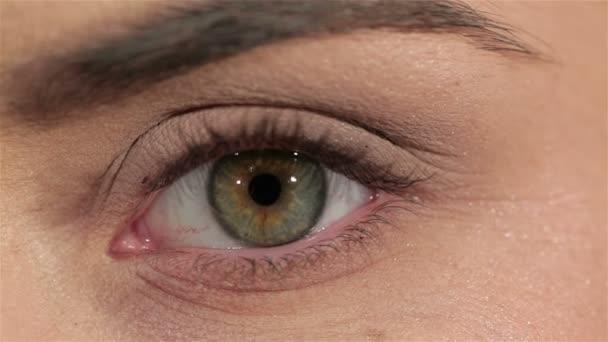 krásné módní make-up ženské oko, makro snímek