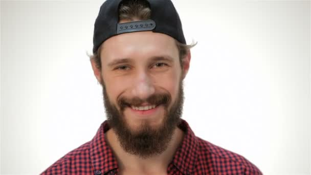 Young bearded student man