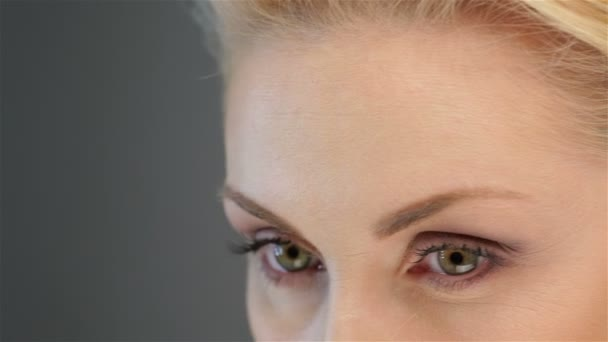 Close up of an attractive blonde eye