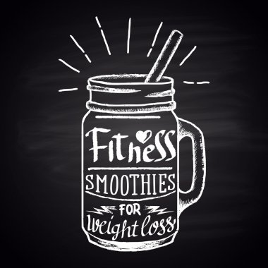 healthy fitness smoothie jar