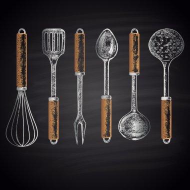 kitchen accessories, utensils set