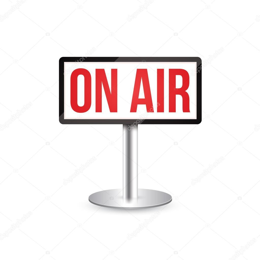 Studio Or Radion On Air Sign Stock Vector Alexanderze 109029876
