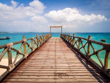Pier on Prison Island, Zanzibar