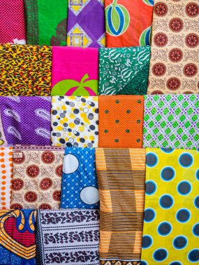 Colorful African garments